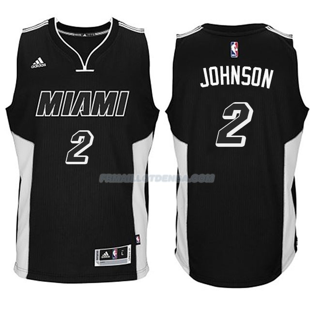 Maillot Basket Miami Heat Johnson Negro 2 Blanco