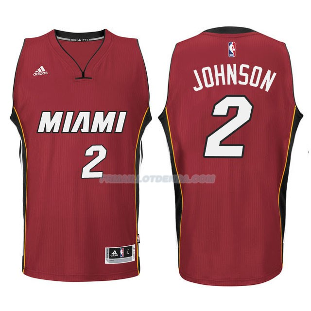 Maillot Basket Miami Heat Johnson 2 Rojo