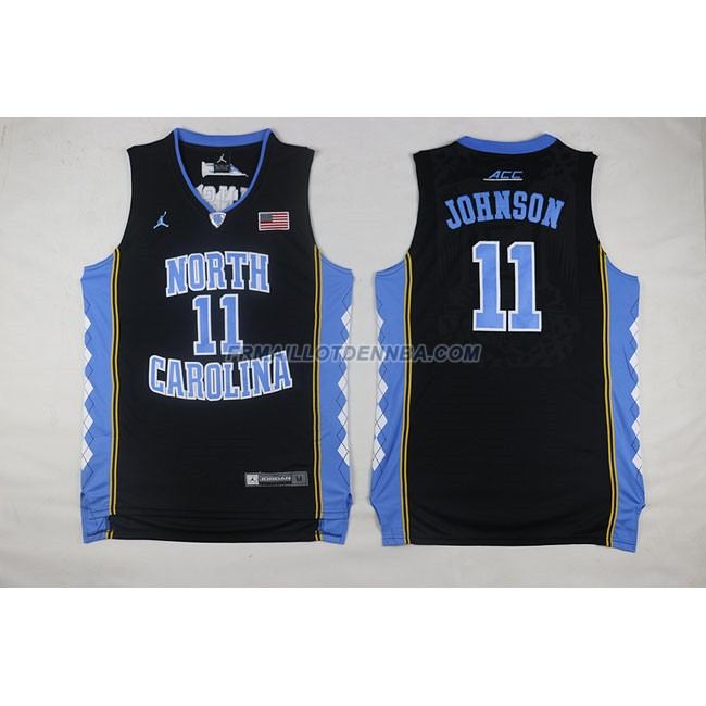 Commemorer Maillot Basket Johnson 11 Noir 2013