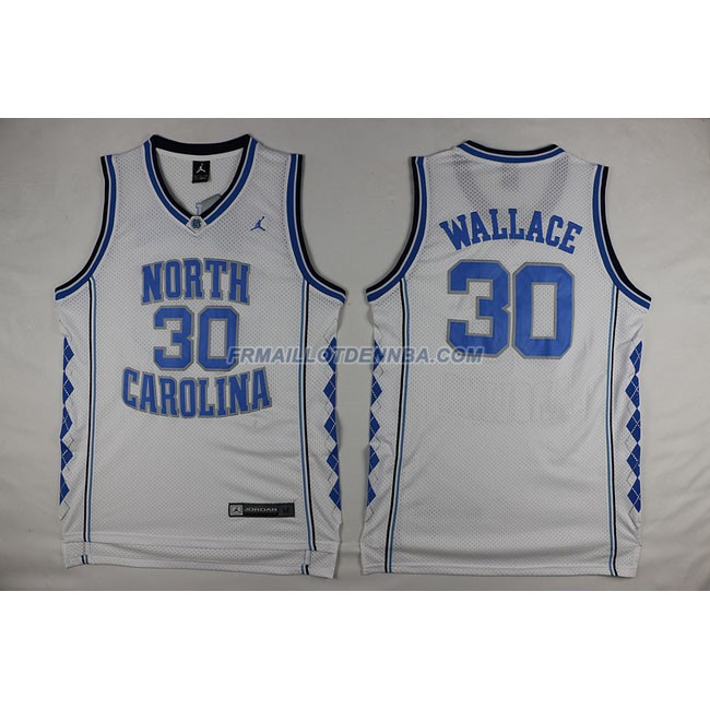 Commemorer Maillot Basket Wallace 30 Blanc 2016
