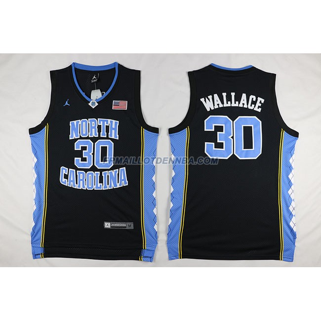 Commemorer Maillot Basket Wallace 30 Noir 2016