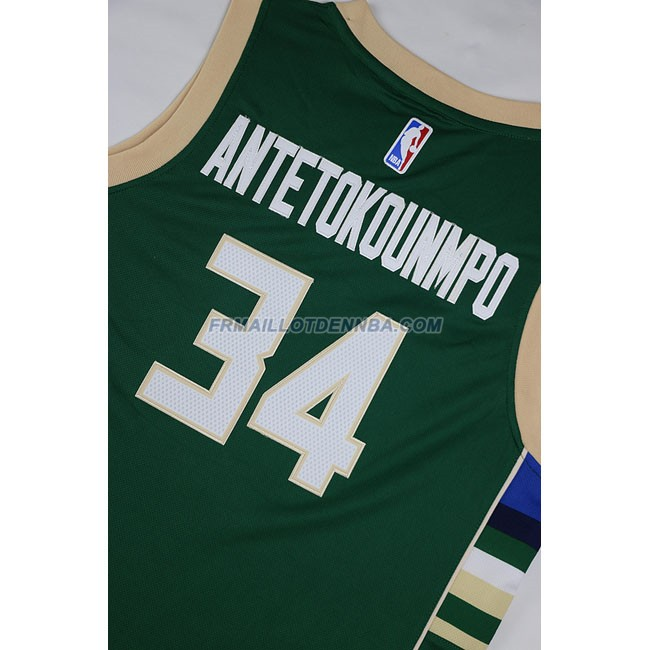 Enfants Maillot Basket Milwaukee Bucks Anteokounmpo 34 Vert 2016