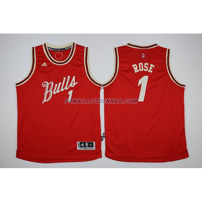 Enfants Maillot Basket Bulls Rose 1 Rouge 2015