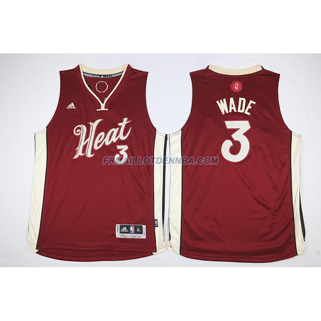 Enfants Maillot Basket Heat Dwyane 3 Rouge 2015