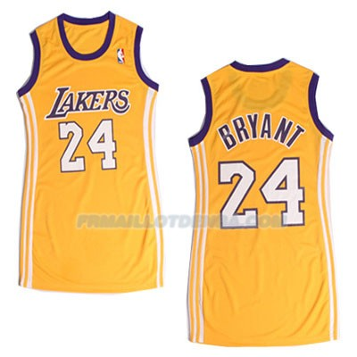 Femmes Maillot Basket Los Angeles Lakers Bryant 24 Jaune 2016