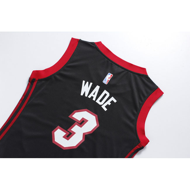 femmes maillot basket miami heat wade 3 noir 2016 yt 48. Black Bedroom Furniture Sets. Home Design Ideas