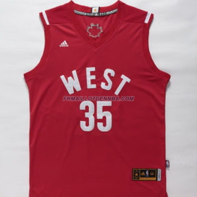 Maillot Basket All Star Durant 35 Rouge 2016