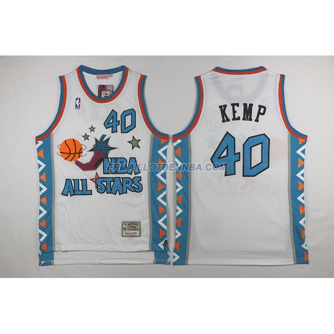 Maillot Basket All Star Kemp 40 Blanc 1996
