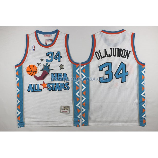 Maillot Basket All Star Olajuwon 34 Blanc 1996
