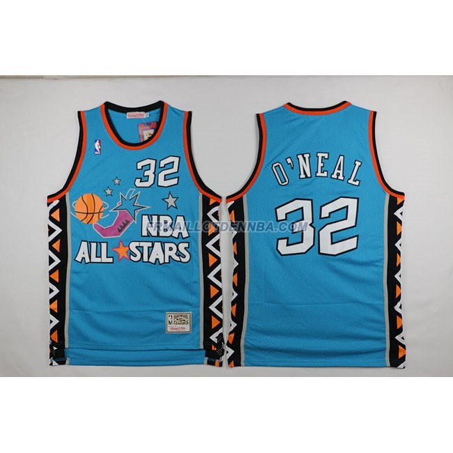 Maillot Basket All Star Oneal 32 Bleu 1996