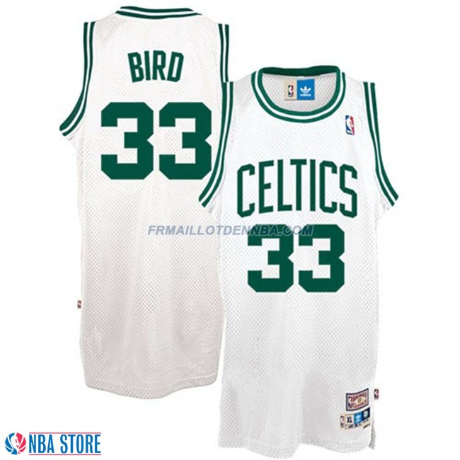 Maillot Basket Boston Celtics Bird 33 Blanc 2015