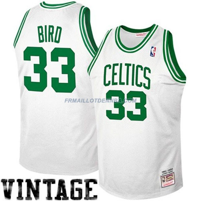 Maillot Basket Boston Celtics Bird 33 Blanc 2016