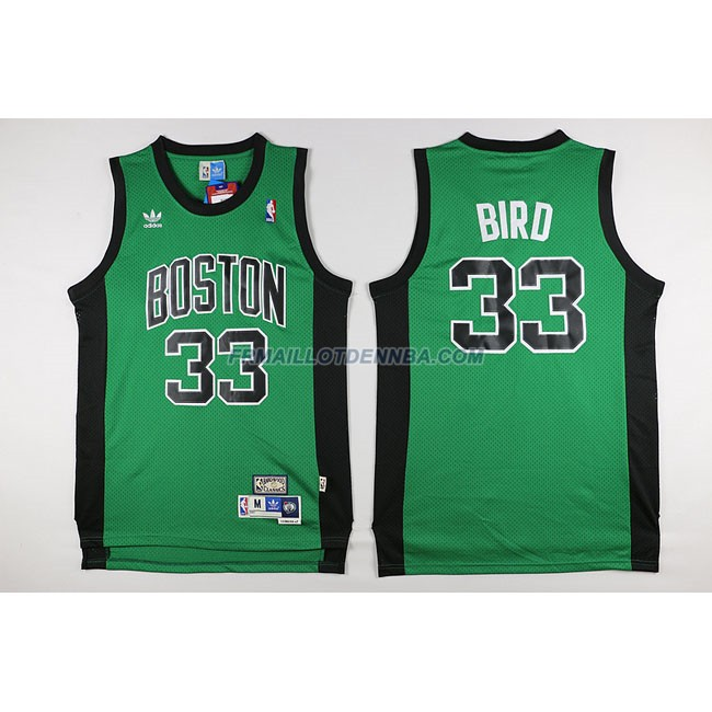 Maillot Basket Boston Celtics Bird 33 Noir Vert 2016