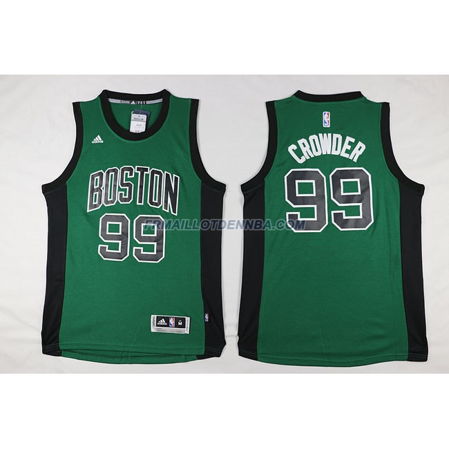 Maillot Basket Boston Celtics Crowder 99 Noir Vert 2016