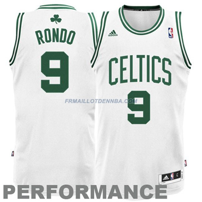 Maillot Basket Boston Celtics Rondo 9 Blanc 2016