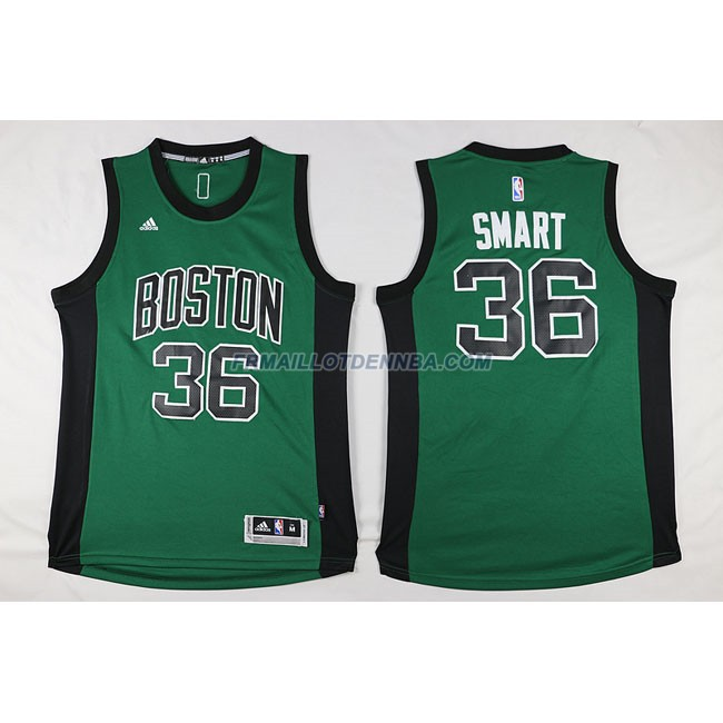 Maillot Basket Boston Celtics Smart 36 Noir Vert 2016