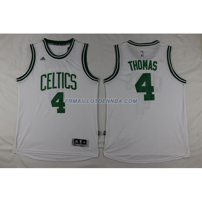 Maillot Basket Boston Celtics Thomas 4 Blanc 2016