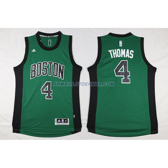 Maillot Basket Boston Celtics Thomas 4 Noir Vert 2016