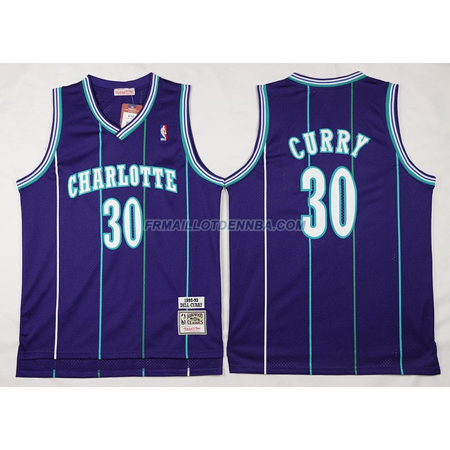 Maillot Basket Charlotte HorBrooklyn Nets Curry 30 Pourpre 2016