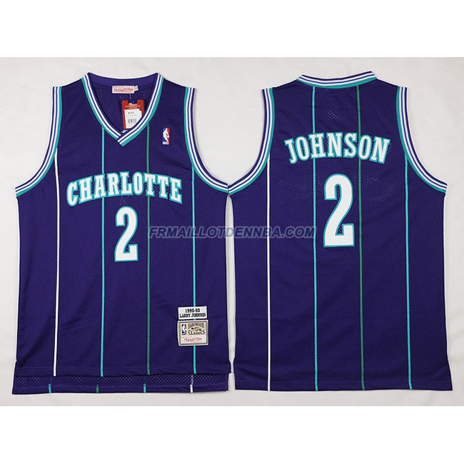 Maillot Basket Charlotte HorBrooklyn Nets Johnson 2 Pourpre 2016