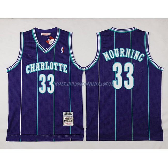 Maillot Basket Charlotte HorBrooklyn Nets Nourning 33 Pourpre 2016
