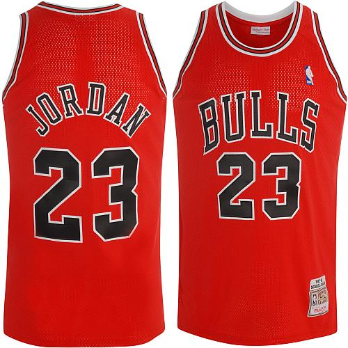 Maillot Basket Chicago Bulls Retro Jordan 23 Rouge 2013