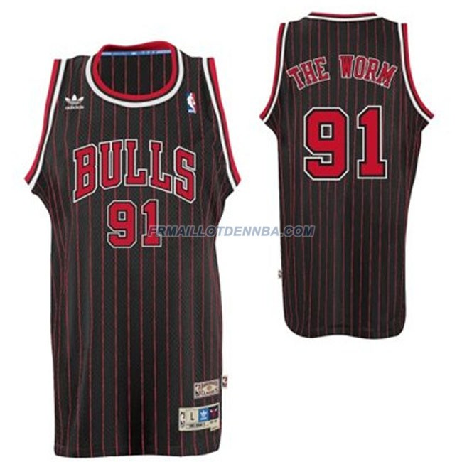 Maillot Basket Chicago Bulls Worm 91 Rouge 2016