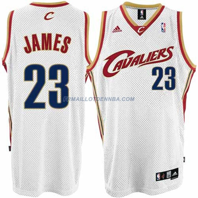 Maillot Basket Cleveland Cavaliers James 23 Blanc 2015