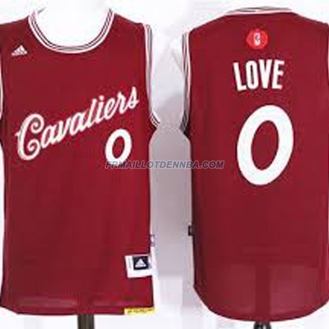 Maillot Basket Cleveland Cavaliers Love 0 Rouge 2016