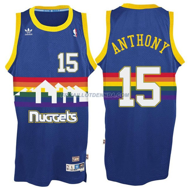 Maillot Basket Denver Nuggets Anthony 15 Bleu 2016