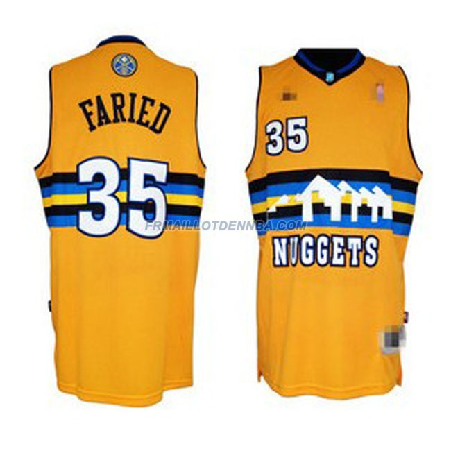 Maillot Basket Denver Nuggets Faried 35 Jaune 2016
