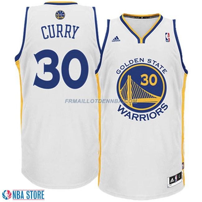 Maillot Basket Golden State Warriors Curry 30 Blanc 2016