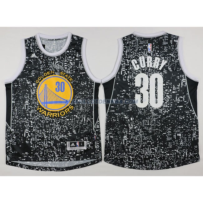 Maillot Basket Golden State Warriors Curry 30 Noctilucent 2016