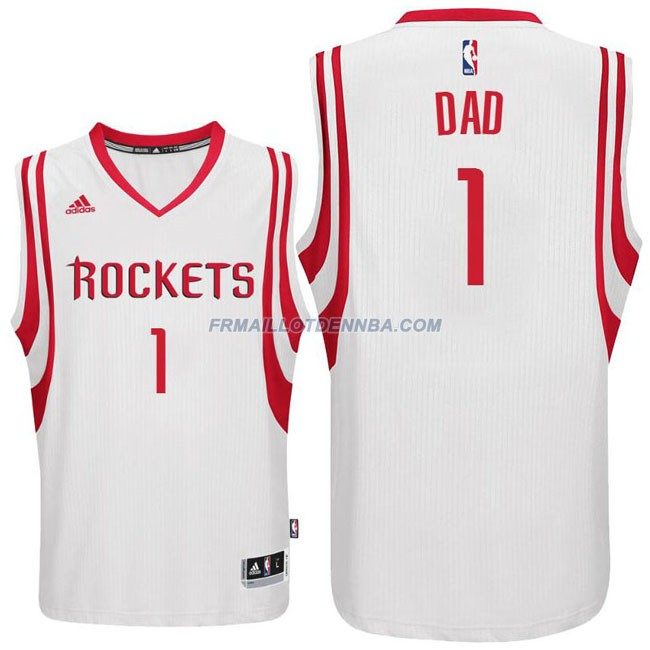 Maillot Basket Houston Rockets DAD 1 Blanc 2016