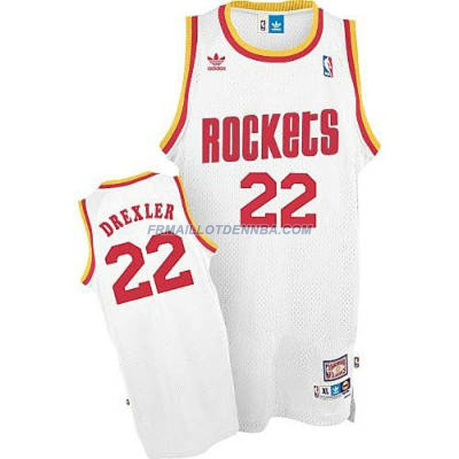 Maillot Basket Houston Rockets Drexler 22 Blanc 2015