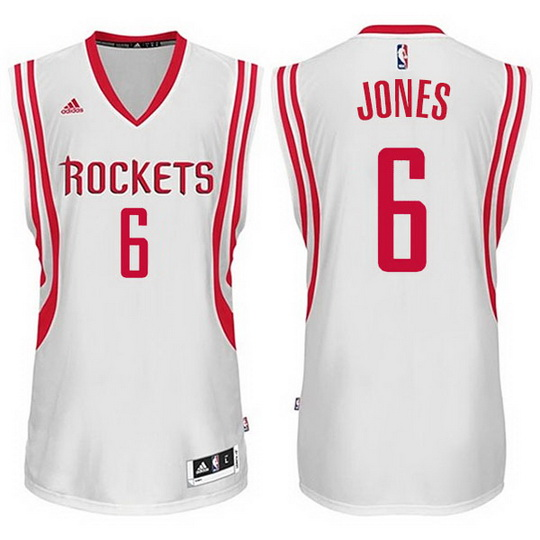 Maillot Basket Houston Rockets Jones 6 Blanc 2016
