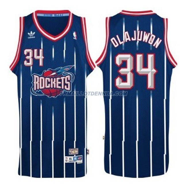 Maillot Basket Houston Rockets Olajuwon 34 Bleu 2016
