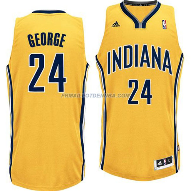 Maillot Basket Indiana Pacers George 24 Jaune 2016