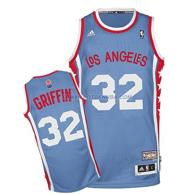 Maillot Basket Los Angeles Clippers Griffin 32 Bleu Clair 2015