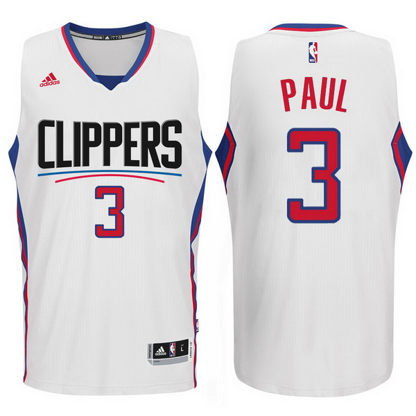 Maillot Basket Los Angeles Clippers Paul 3 Blanc 2015