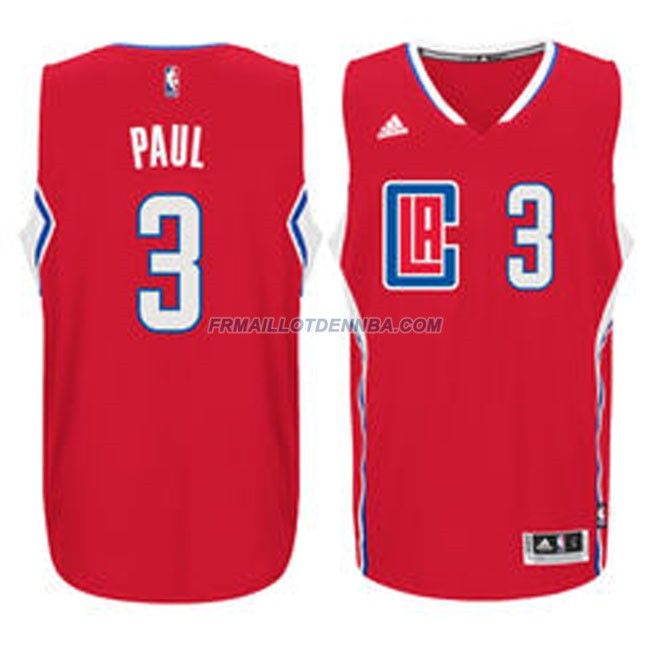 Maillot Basket Los Angeles Clippers Paul 3 Rouge 2016