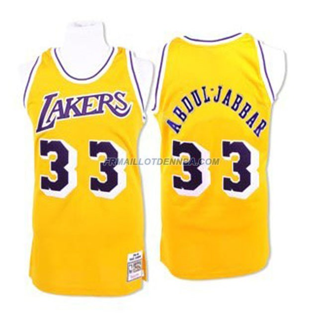 Maillot Basket Los Angeles Lakers Abduljabbar 33 Jaune 2016