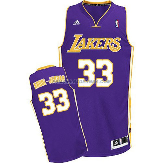 Maillot Basket Los Angeles Lakers Abduljabbar 33 Pourpre 2016