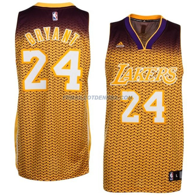 Maillot Basket Los Angeles Lakers Bryant 24 Jaune 2016