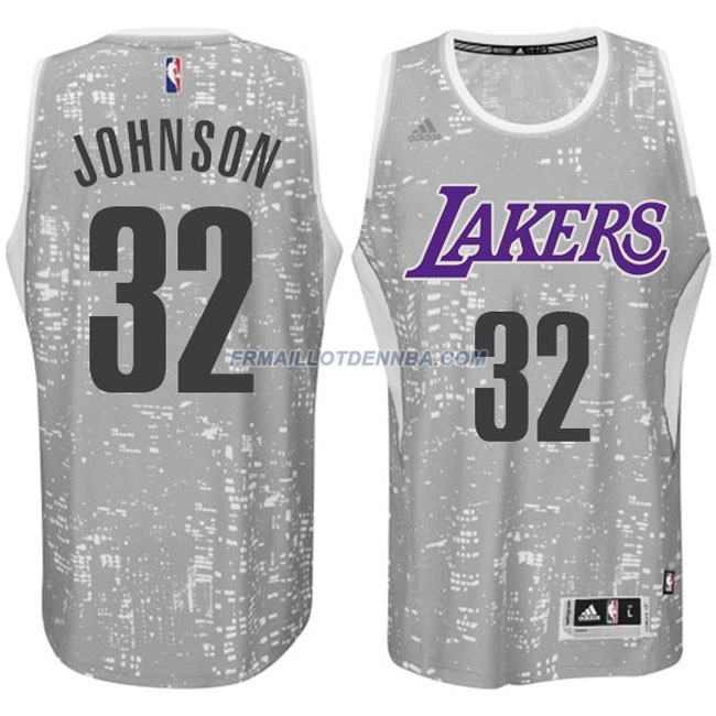 Maillot Basket Los Angeles Lakers Johnson 32 Gris 2016