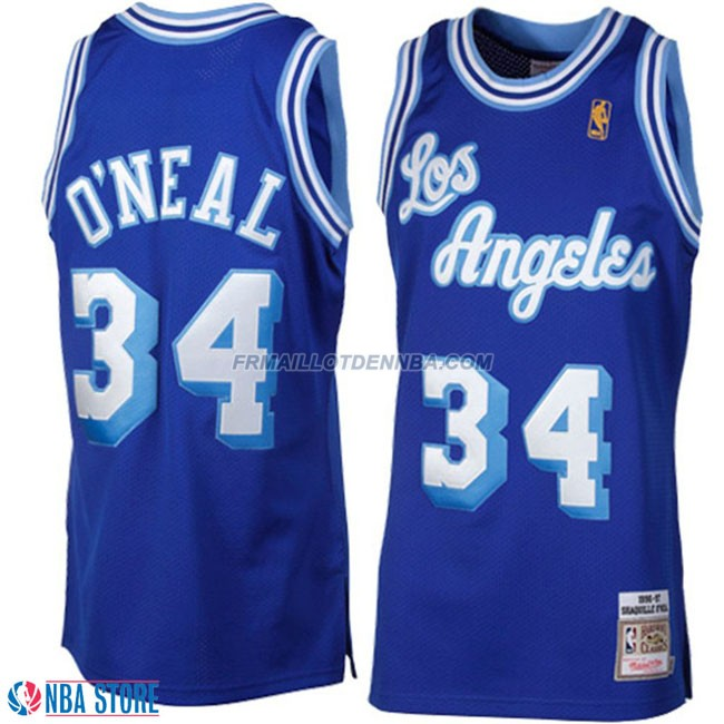 Maillot Basket Los Angeles Lakers Oneal 34 Bleu 2015