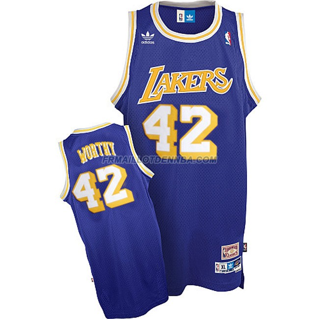 Maillot Basket Los Angeles Lakers Worthy 42 Pourpre 2016