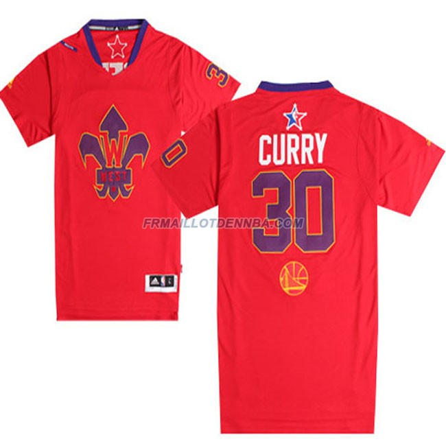 Maillot Basket Manche Courte All Star Curry 30 Rouge 2014