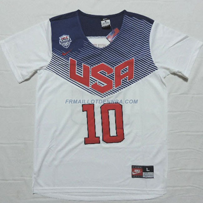 Maillot Basket Manche Courte USA Irving 10 Blanc 2016
