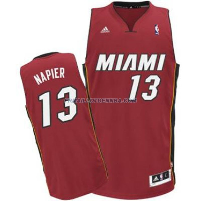 Maillot Basket Miami Heat Napier 13 Rouge 2016
